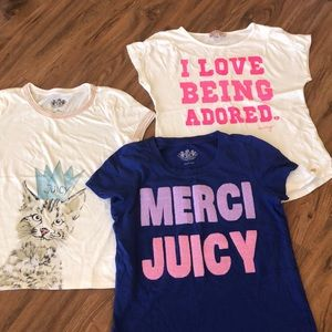 BUNDLE!! 3 t-shirts Juicy Couture size L (8-10)
